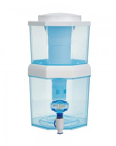 KENT Gold Optima | 10-Litres | Gravity Based | Non-electric Water Purifier| Aqua Blue/White