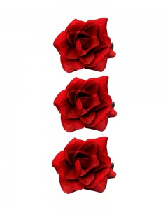 Comet Busters Red Rose Flower Hair Clip For Women