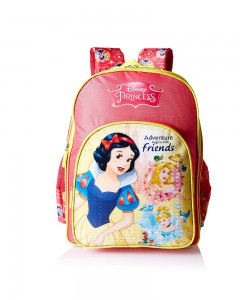 Disney Princess Pink School Bag for Children Age Group of 8 + years | Size 18 inch