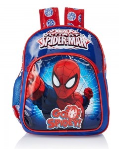 Spiderman Polyester Blue and Red School Bag