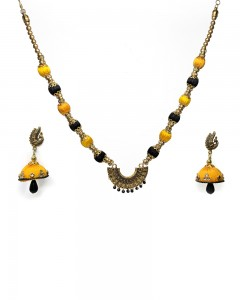 Comet Busters Beautiful Handcrafted Silk Thread Necklace Set for Women