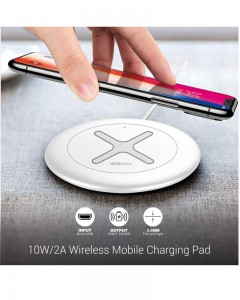Portronics Toucharge X | POR-897 | White | Wireless Mobile Charger
