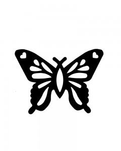 Comet Busters Butterfly Logo Mobile vinyl Sticker for all mobiles (Black)
