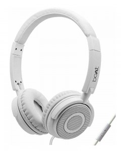 Boat 910 | On-Ear Lightweight Wired Hands-free Headphones | White